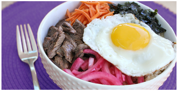 Bibimbap w/ Pickled Onions