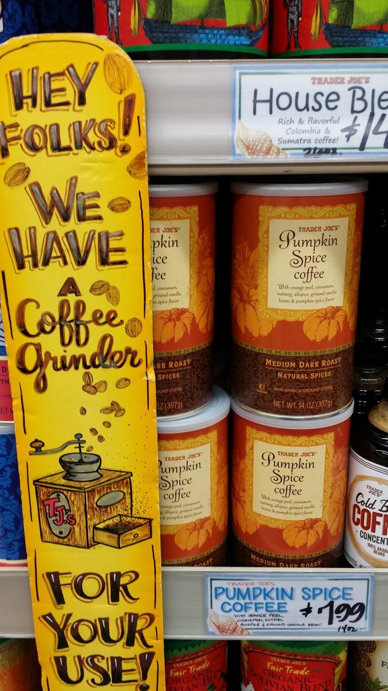 Trader Joe's Pumpkin Coffee