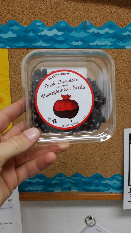 Trader Joe's Dark Chocolate Covered Pomegranate Seeds