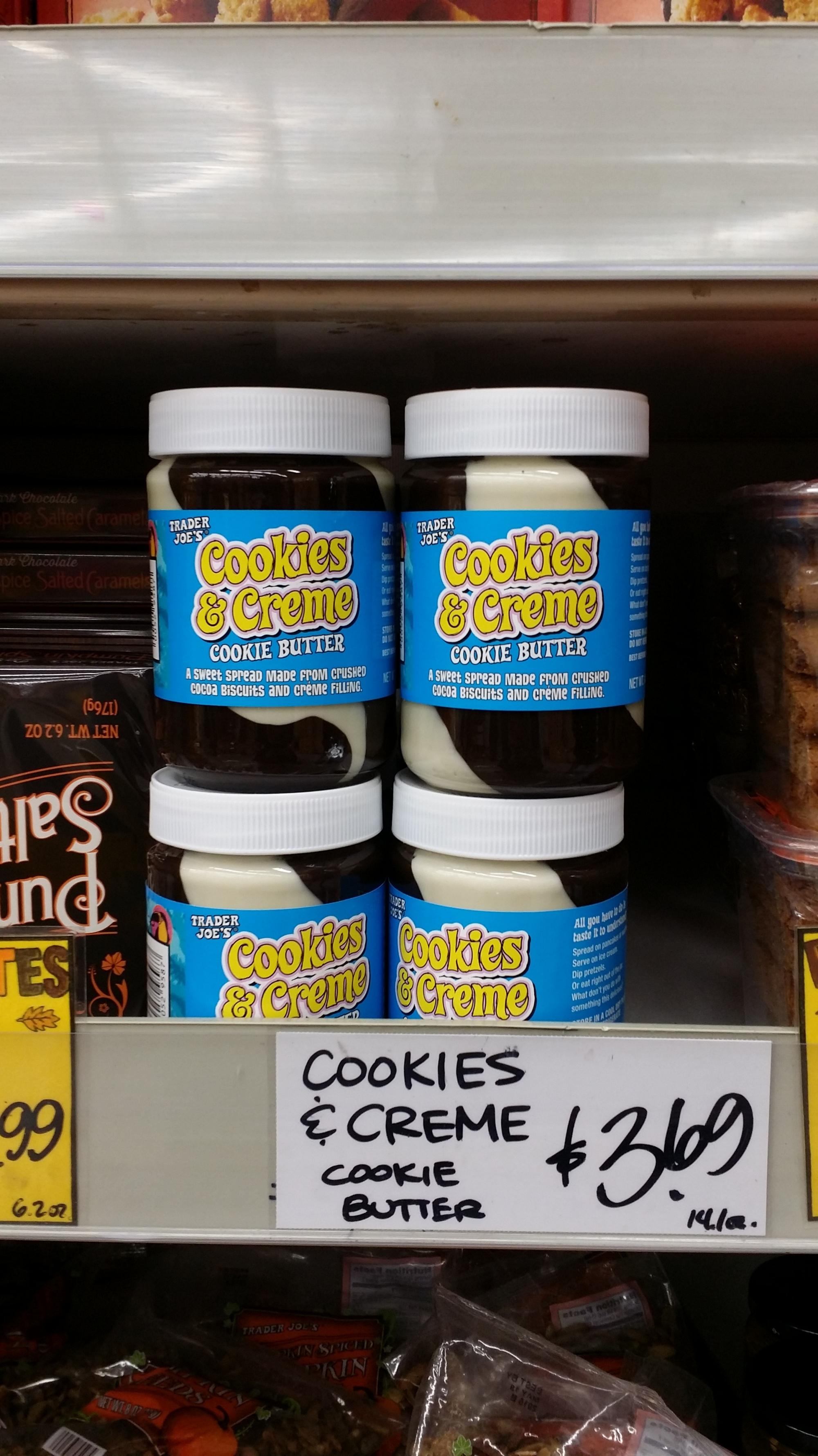 Trader Joe's Cookies & Cream Cookie Butter