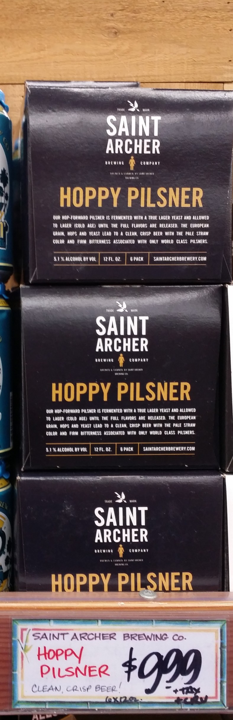 Saint Archer Hoppy Pilsner
