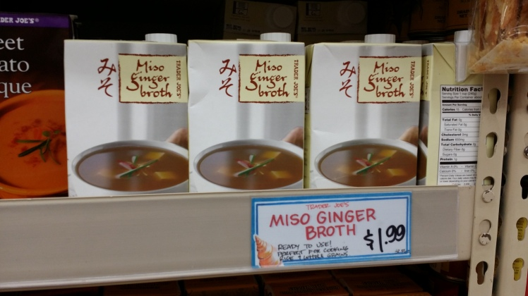 Trader Joe's Miso Ginger Soup