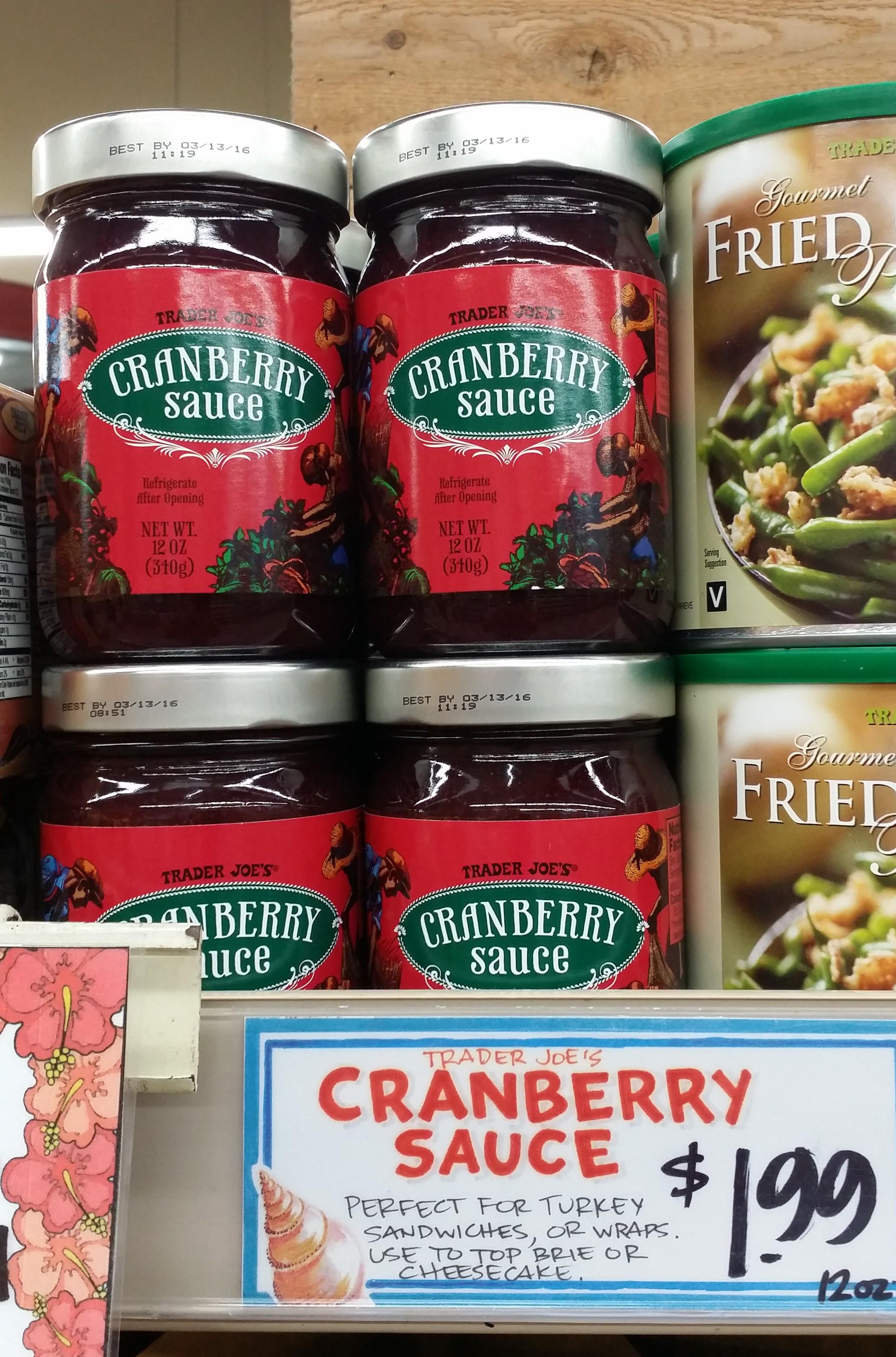 Trader joe s cranberry sauce the trader joes experience for Trader joe s fish sauce