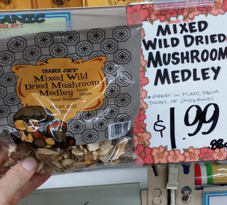 Trader Joe's Mixed Wild Dries Mushroom Medley