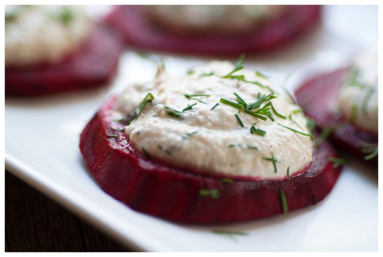 Cashew Cheese on Beets