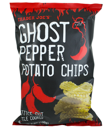 Trader Joe's Ghost Chili Lattice Cut Potato Chips