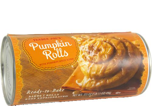 Trader Joe's Pumpkin Rolls with Pumpkin Spice Icing