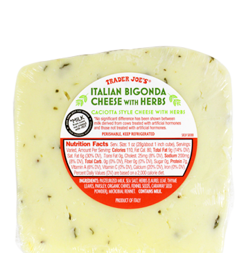 Italian Bigonda Cheese with Herbs