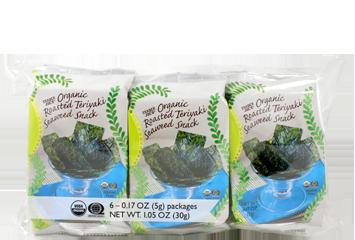 Organic Roasted Teriyaki Seaweed Snack (6-pack)