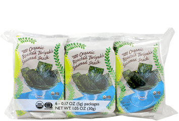 Organic Roasted Teriyaki Seaweed Snack (6-pack)