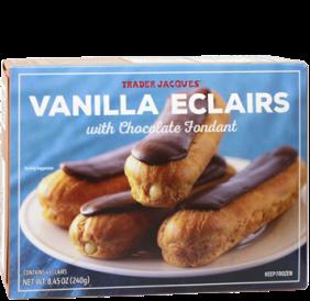 Vanilla Eclairs with Chocolate Fondant