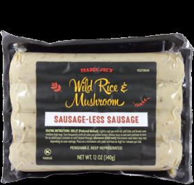 Wild Rice & Mushroom Sausage-less Sausage